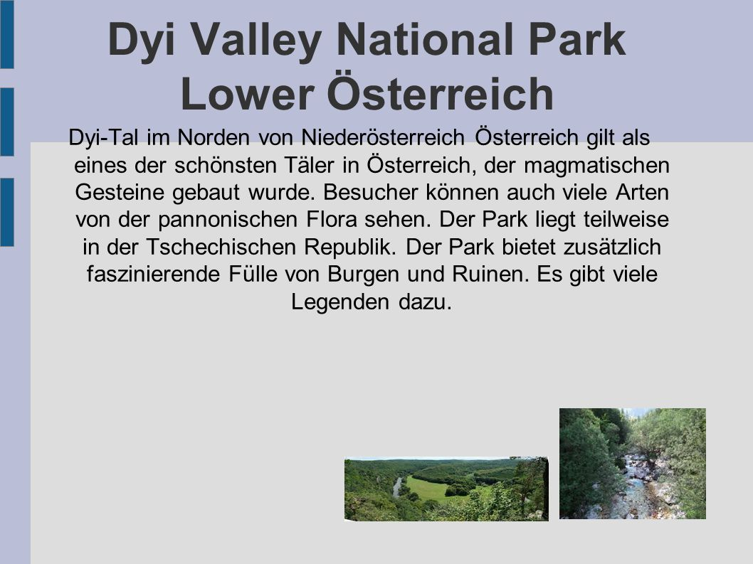Dyi Valley National Park Lower Österreich