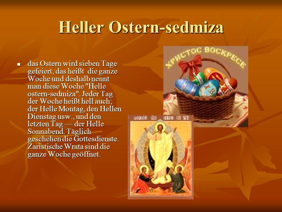 Heller Ostern-sedmiza