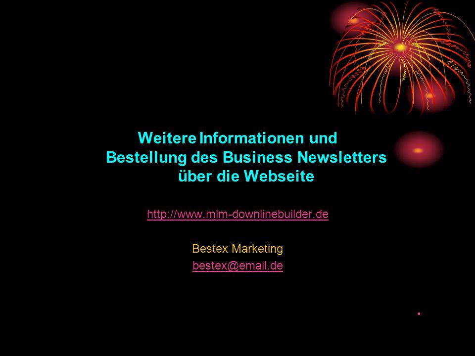 Weitere Informationen und Bestellung des Business Newsletters über die Webseite