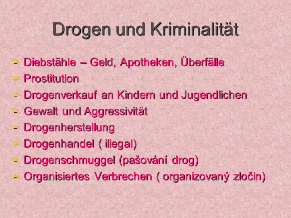 Drogen und Kriminalität