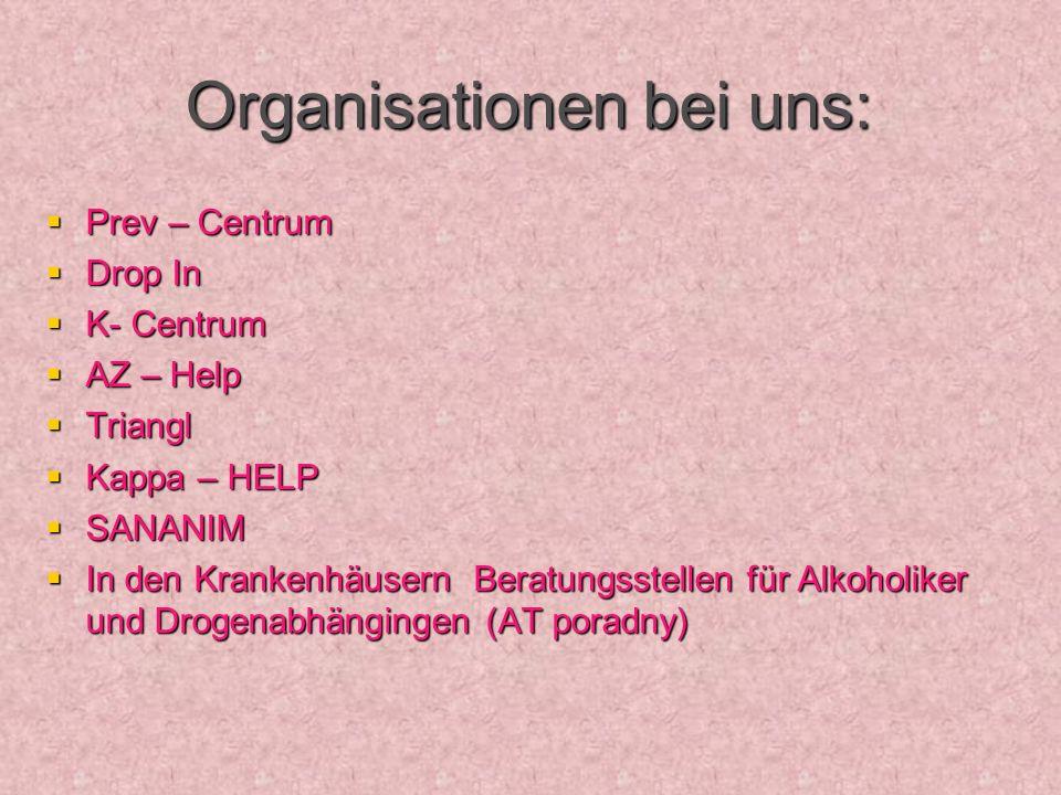 Organisationen bei uns: