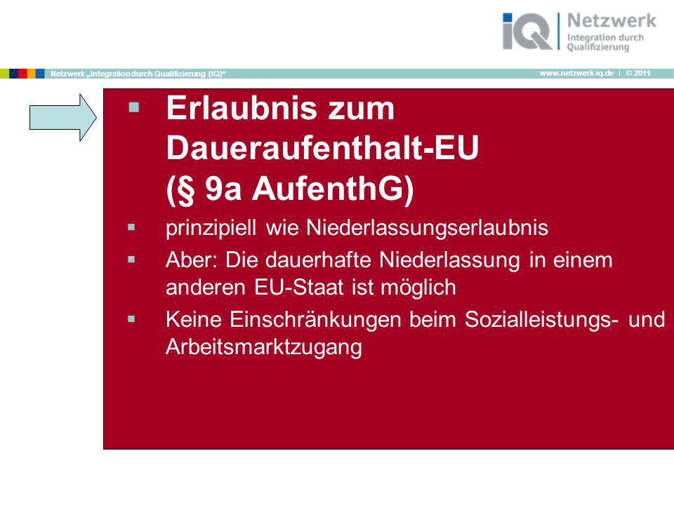 Erlaubnis zum Daueraufenthalt-EU (§ 9a AufenthG)