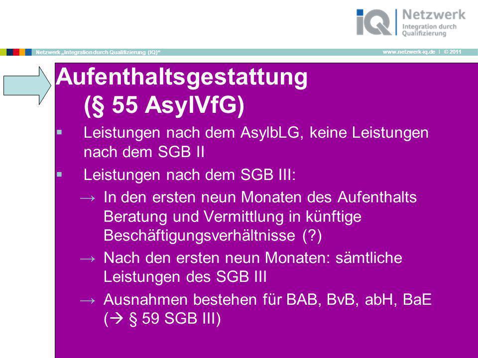 Aufenthaltsgestattung (§ 55 AsylVfG)