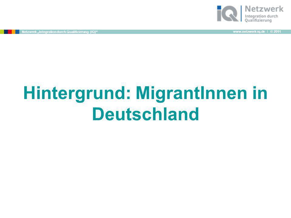 Hintergrund: MigrantInnen in Deutschland