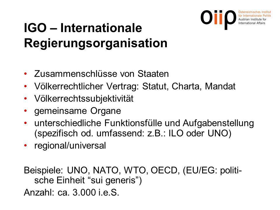 IGO – Internationale Regierungsorganisation