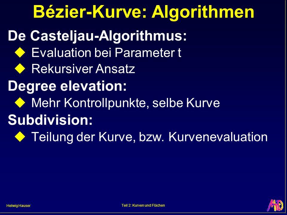 Bézier-Kurve: Algorithmen