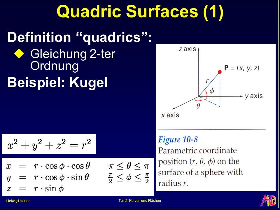 Teil 2: Kurven und Flächen