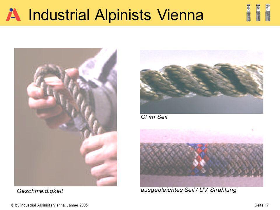 Öl im Seil Geschmeidigkeit ausgebleichtes Seil / UV Strahlung