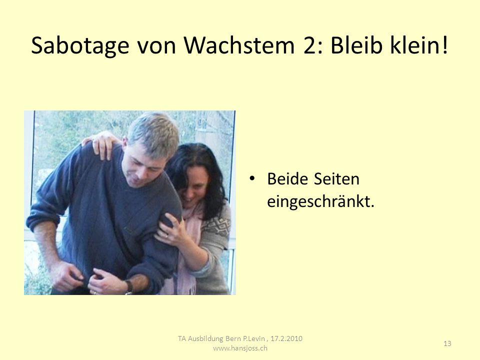 Sabotage von Wachstem 2: Bleib klein!