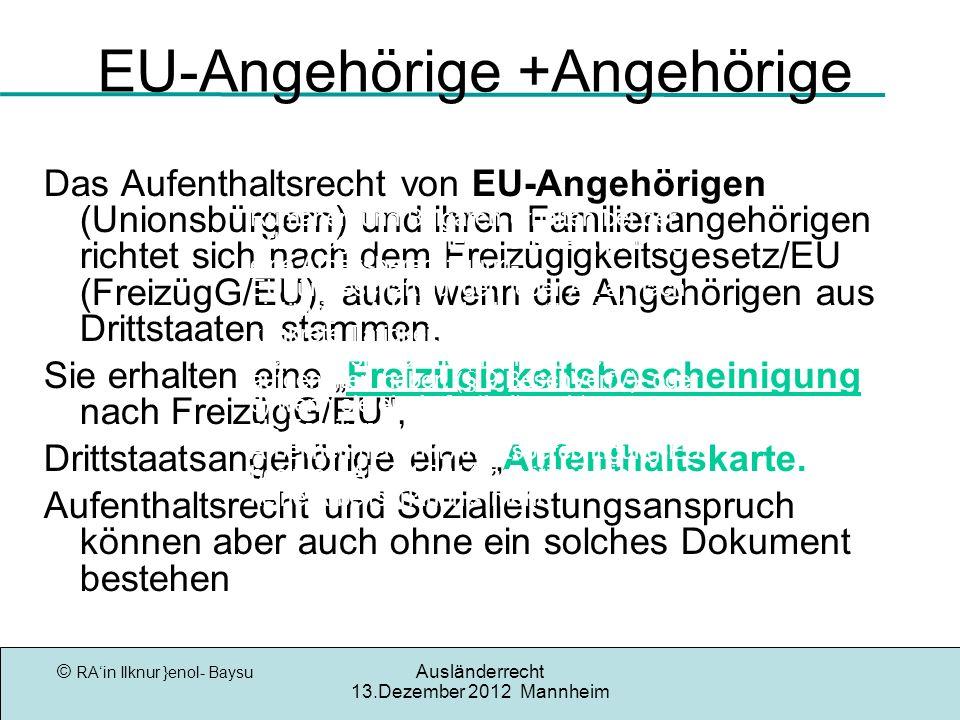 EU-Angehörige +Angehörige