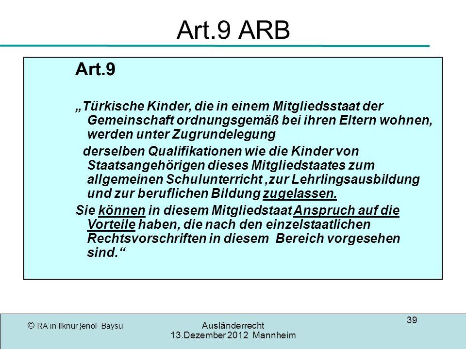 Art.9 ARB Art.9.