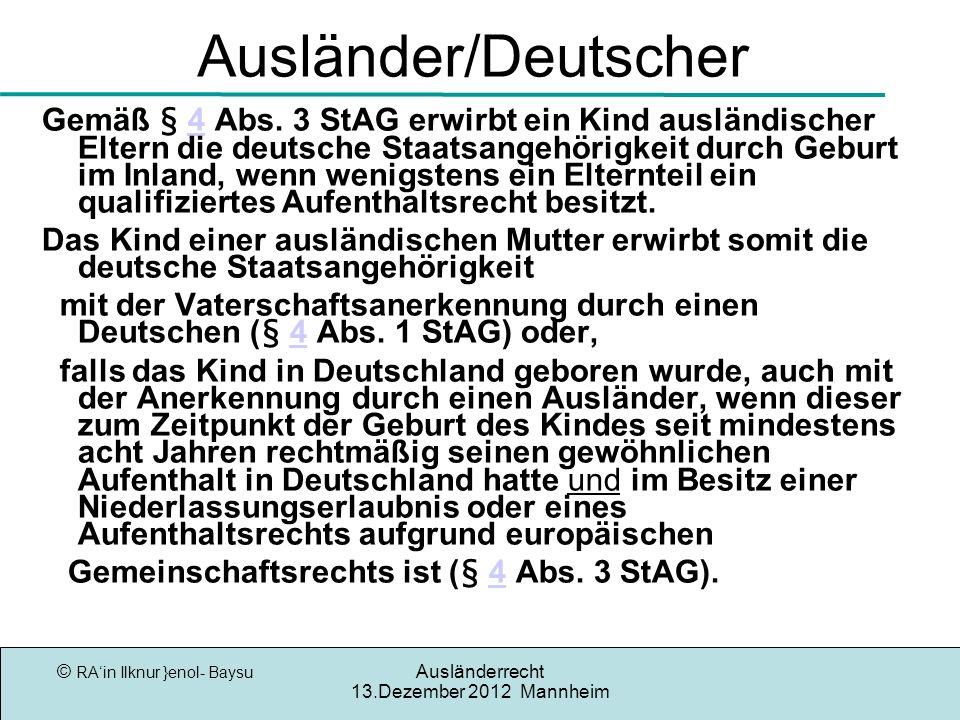 Ausländer/Deutscher