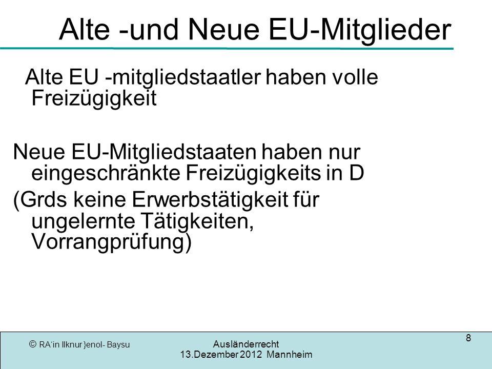 Alte -und Neue EU-Mitglieder