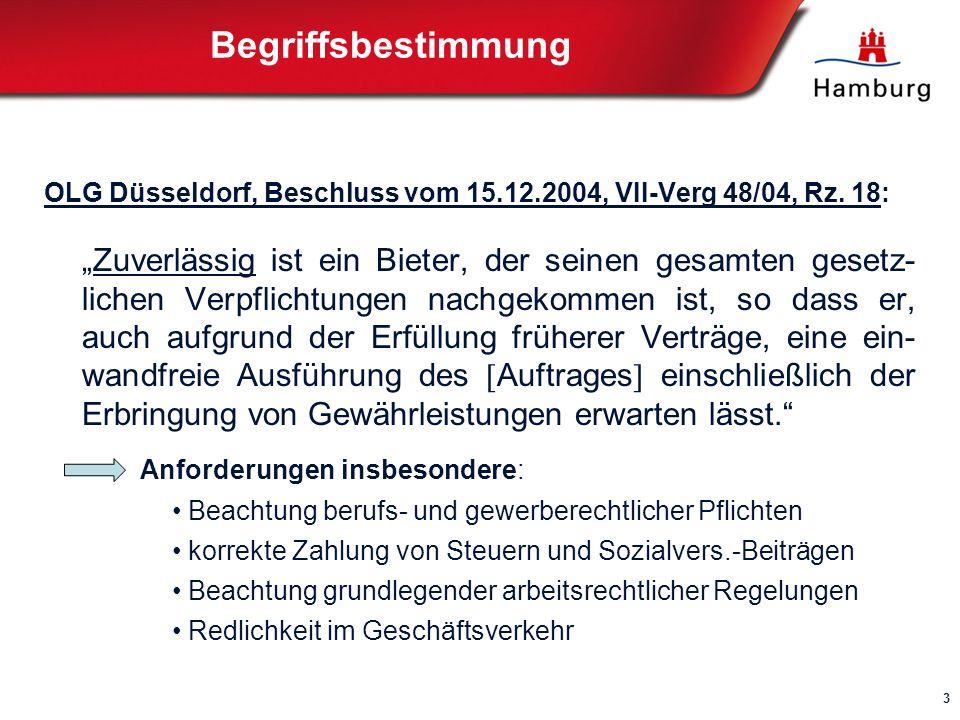 Begriffsbestimmung OLG Düsseldorf, Beschluss vom 15.12.2004, VII-Verg 48/04, Rz. 18: