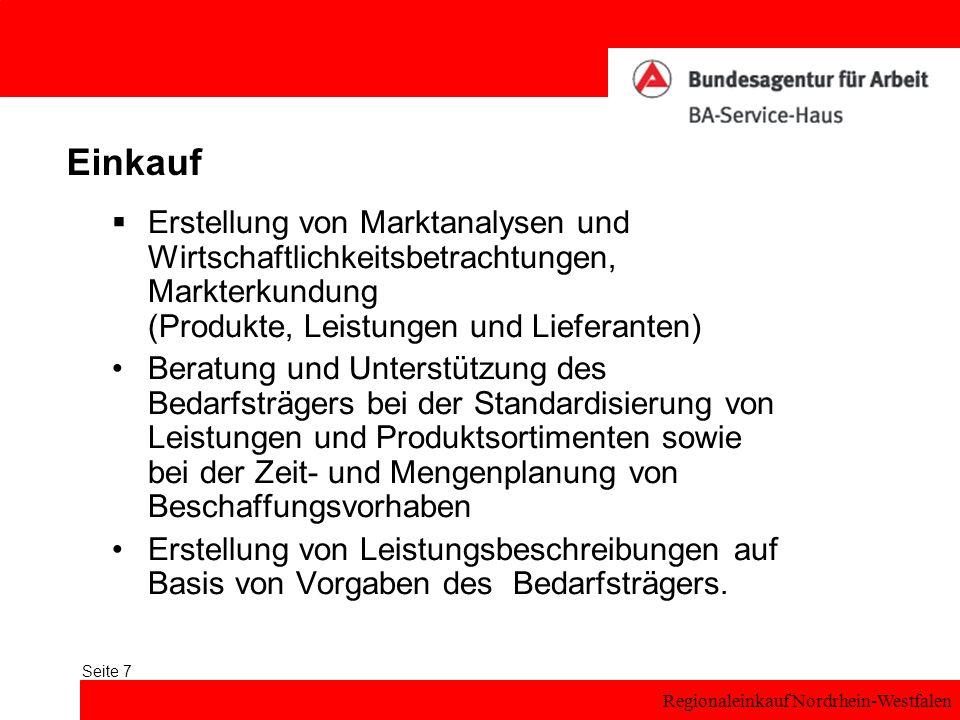 Einkauf Erstellung von Marktanalysen und Wirtschaftlichkeitsbetrachtungen, Markterkundung (Produkte, Leistungen und Lieferanten)
