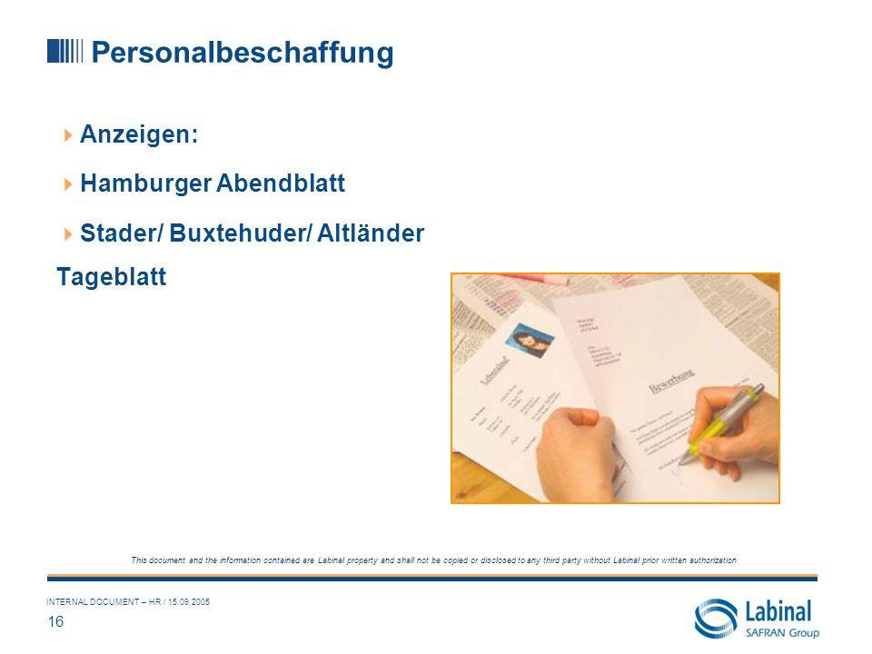 Personalbeschaffung Anzeigen: Hamburger Abendblatt