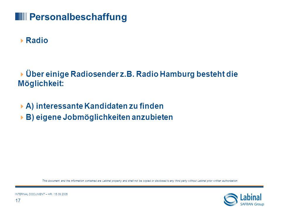 Personalbeschaffung Radio