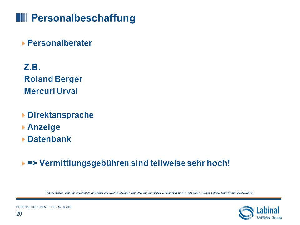 Personalbeschaffung Personalberater Z.B. Roland Berger Mercuri Urval