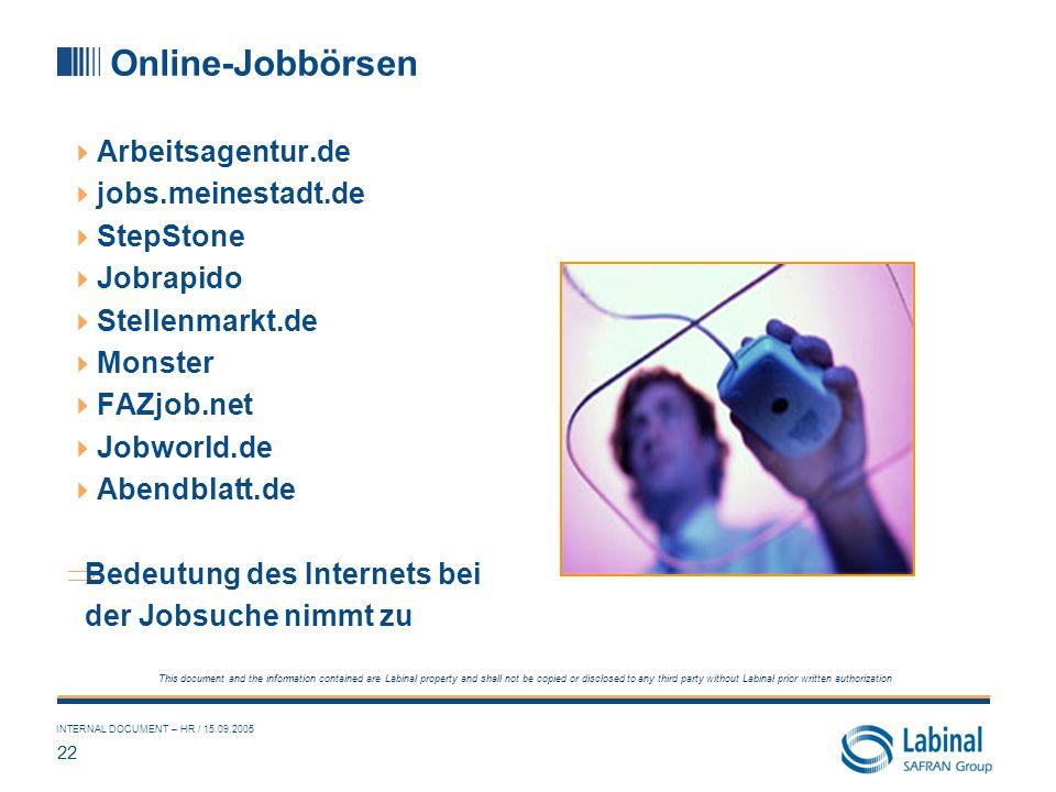 Online-Jobbörsen Arbeitsagentur.de jobs.meinestadt.de StepStone