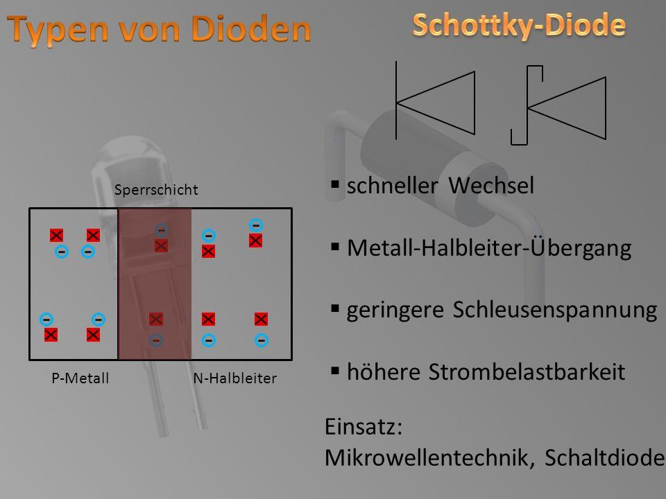 Typen von Dioden Schottky-Diode schneller Wechsel