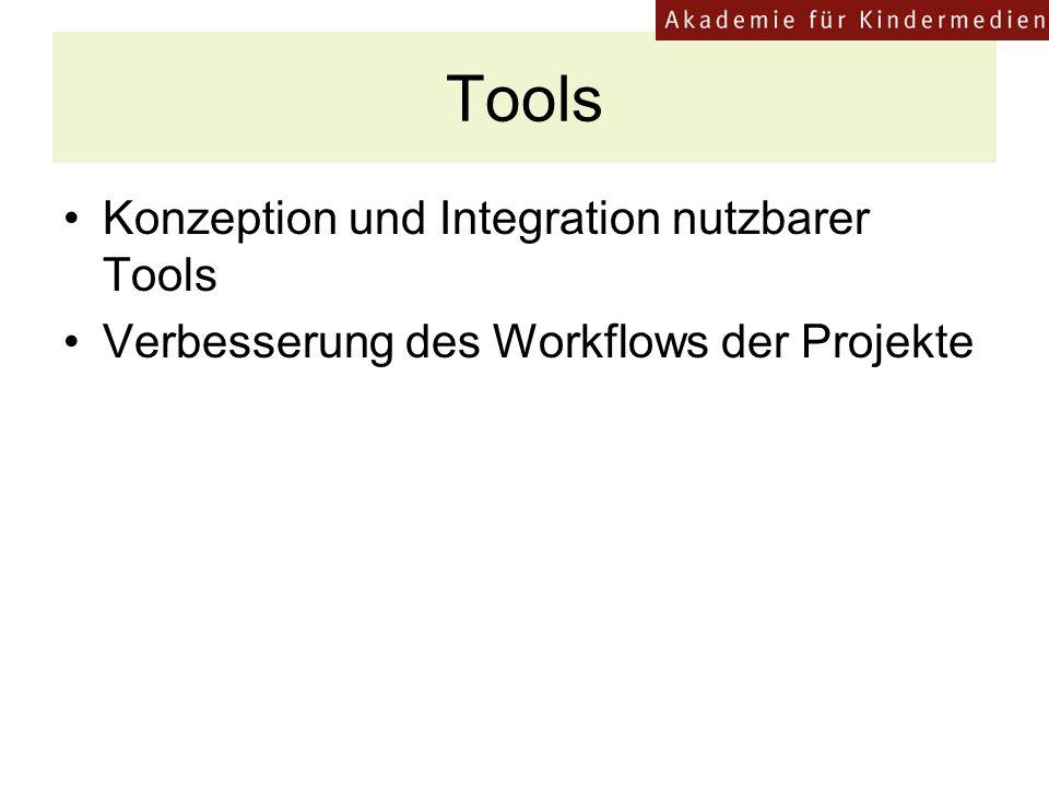 Tools Konzeption und Integration nutzbarer Tools