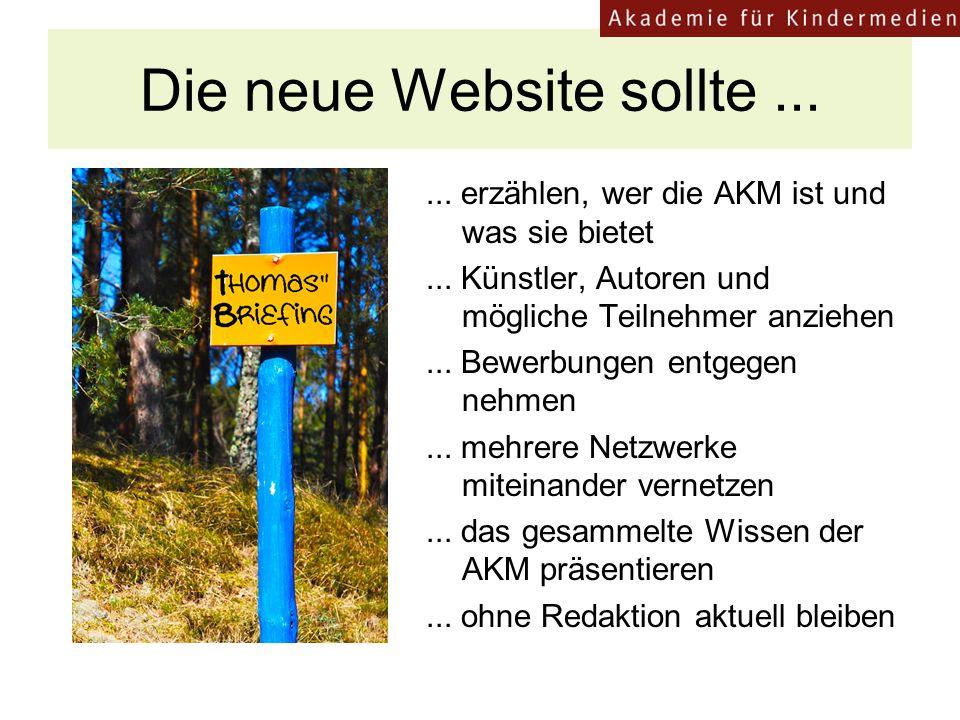 Die neue Website sollte ...