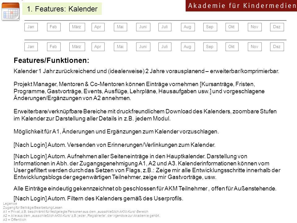 Features/Funktionen:
