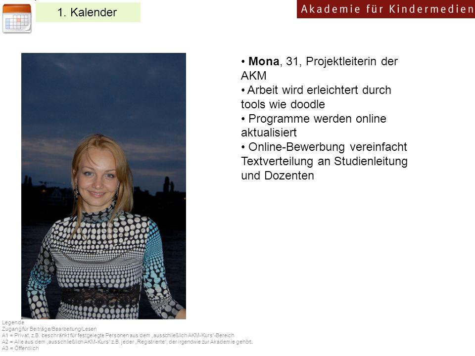 Mona, 31, Projektleiterin der AKM