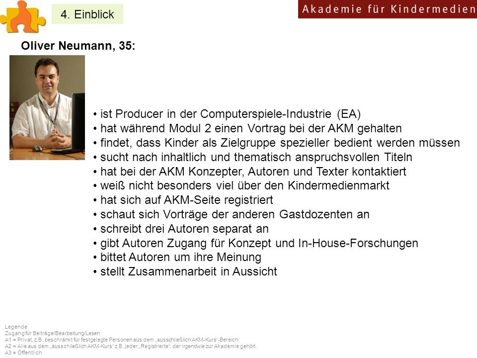 ist Producer in der Computerspiele-Industrie (EA)
