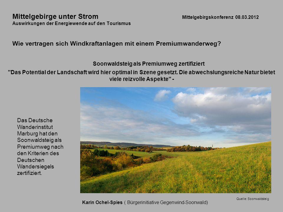 Mittelgebirge unter Strom. Mittelgebirgskonferenz 08. 03