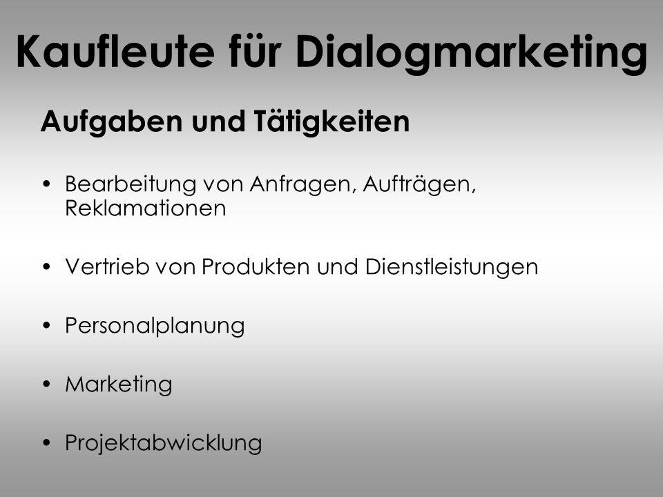 Kaufleute für Dialogmarketing