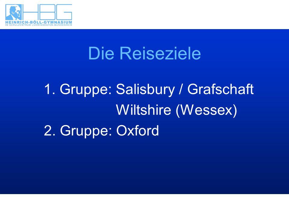 1. Gruppe: Salisbury / Grafschaft