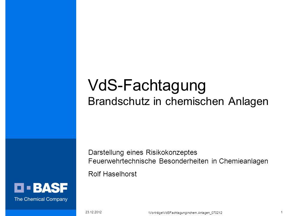 VdS-Fachtagung Brandschutz in chemischen Anlagen