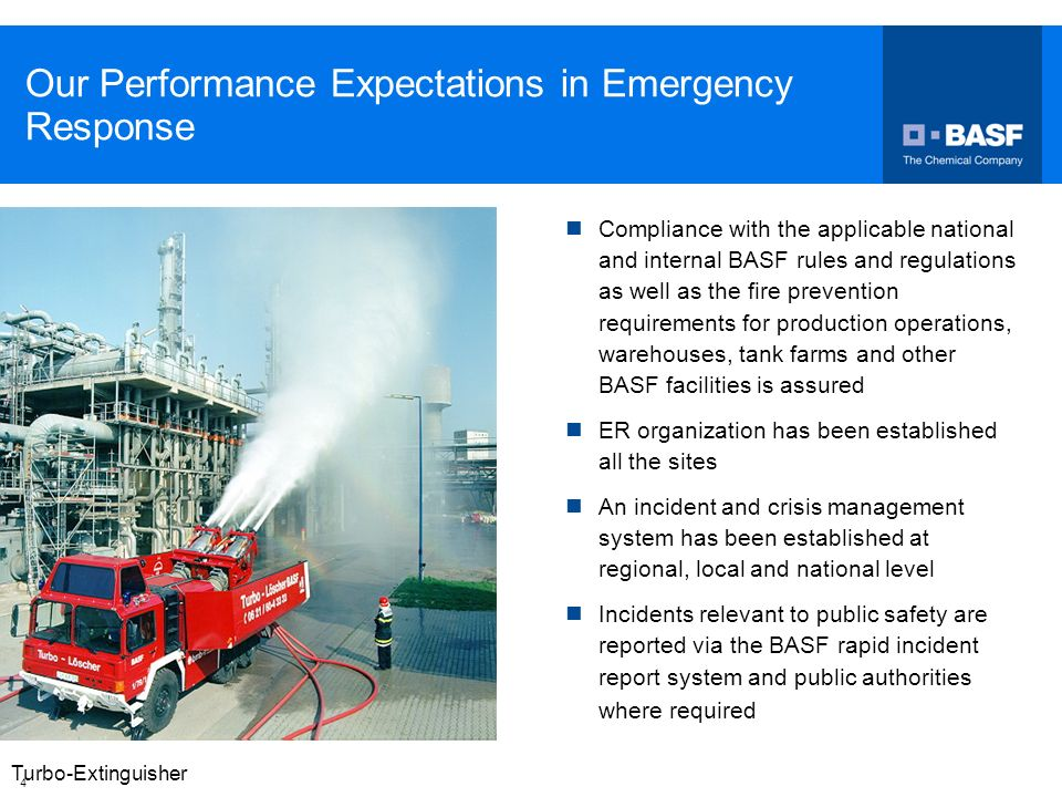 Our Performance Expectations in Emergency Response