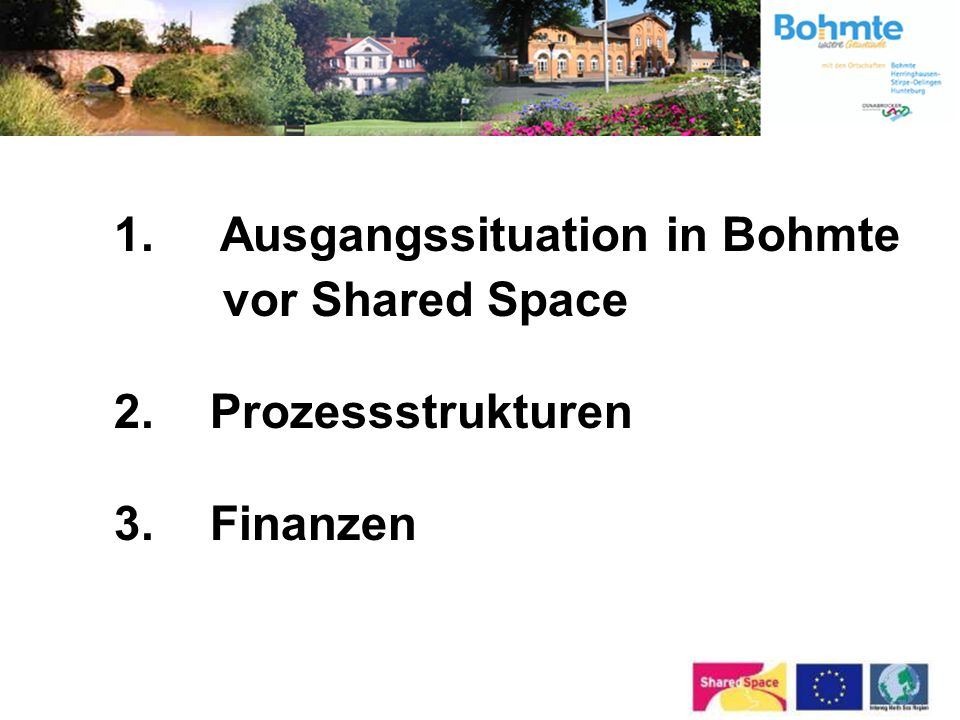 1. Ausgangssituation in Bohmte vor Shared Space