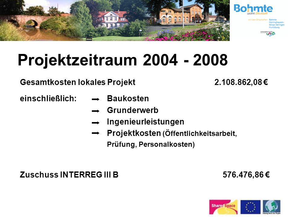 Projektzeitraum 2004 - 2008 Gesamtkosten lokales Projekt 2.108.862,08 €