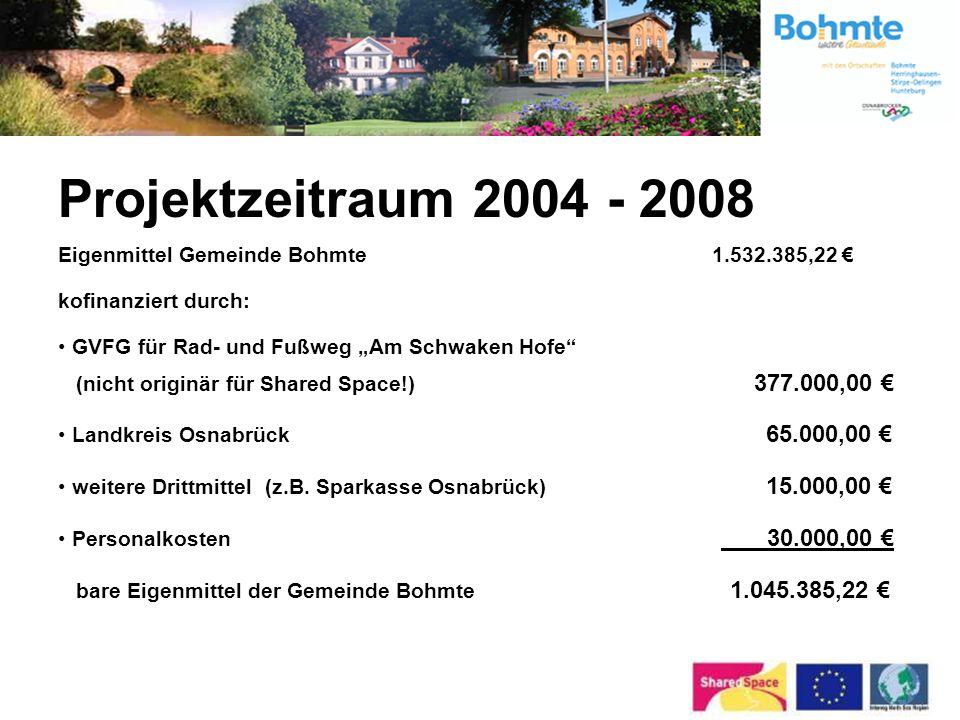 Projektzeitraum 2004 - 2008 Eigenmittel Gemeinde Bohmte 1.532.385,22 €