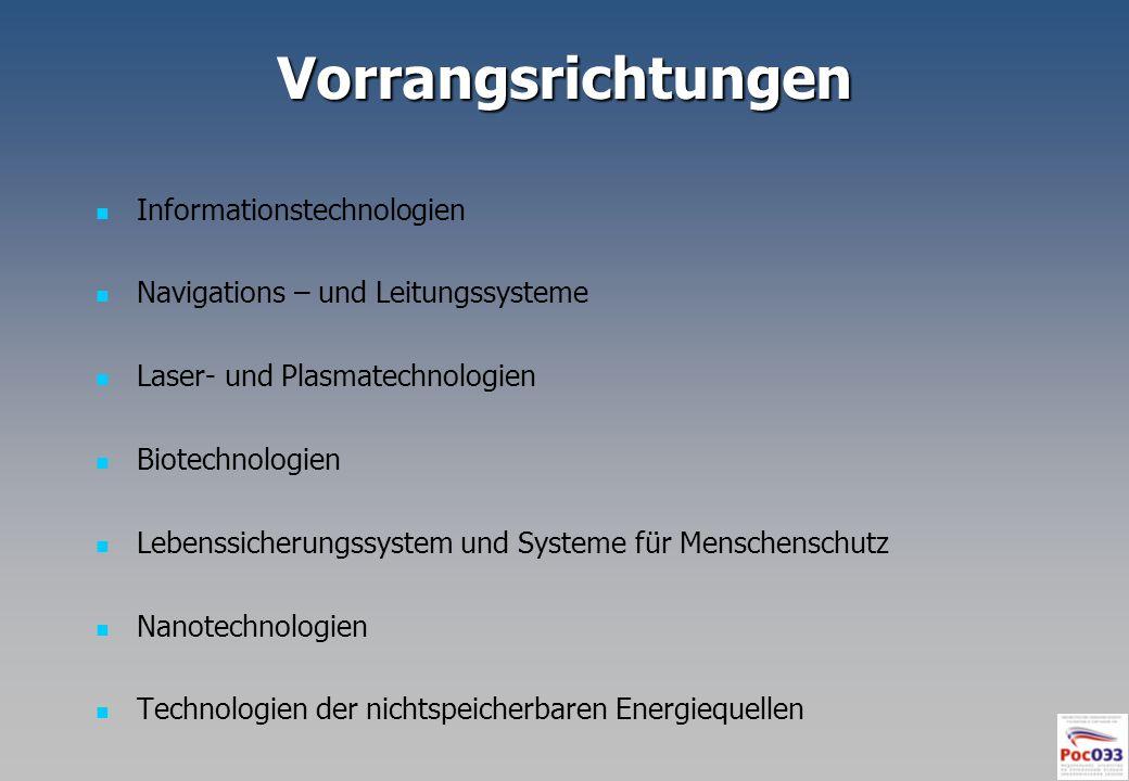 Vorrangsrichtungen Informationstechnologien