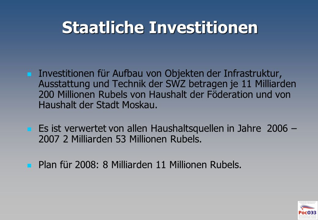 Staatliche Investitionen