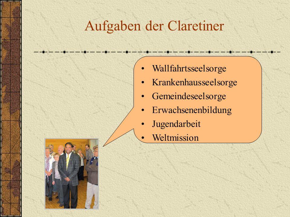 Aufgaben der Claretiner