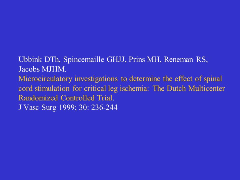 Ubbink DTh, Spincemaille GHJJ, Prins MH, Reneman RS, Jacobs MJHM