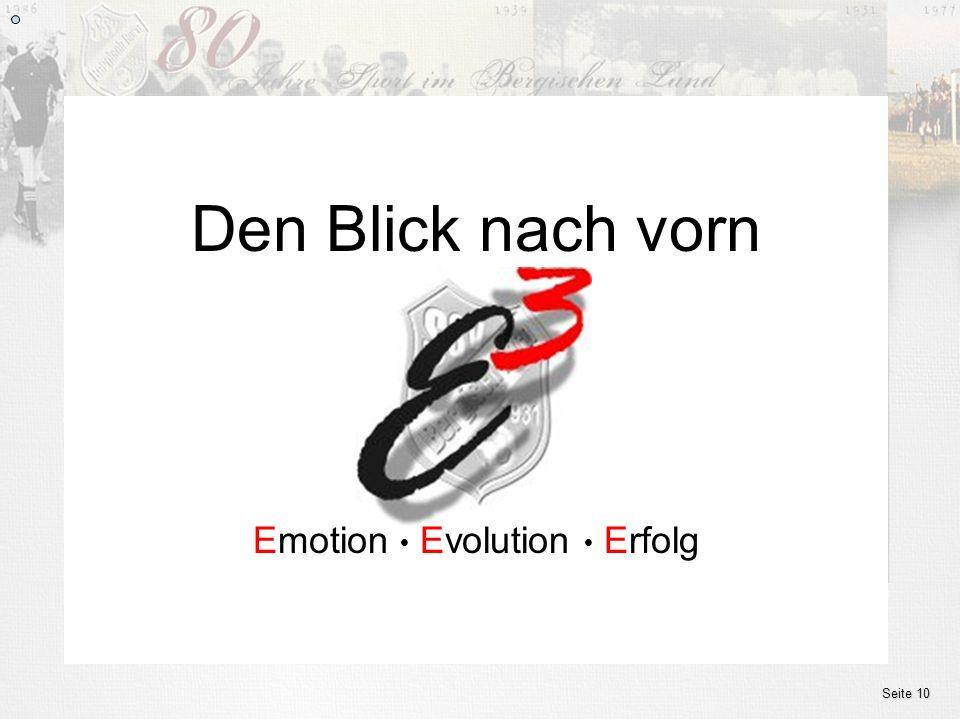 Emotion l Evolution l Erfolg