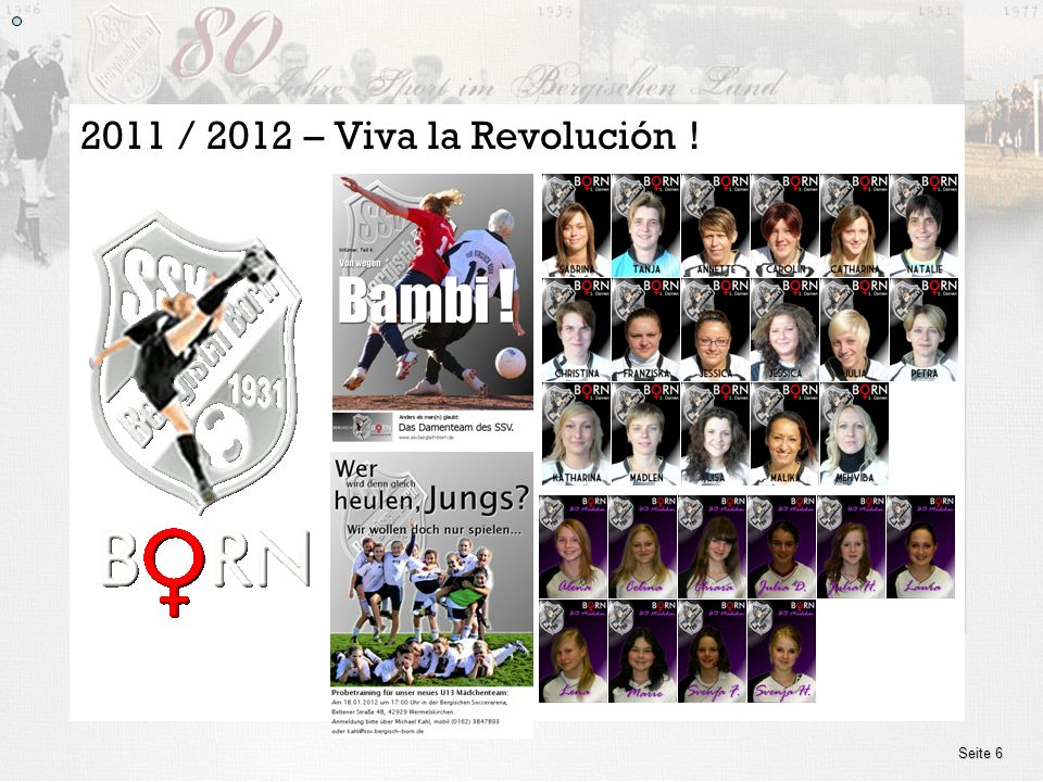 2011 / 2012 – Viva la Revolución ! Seite 6