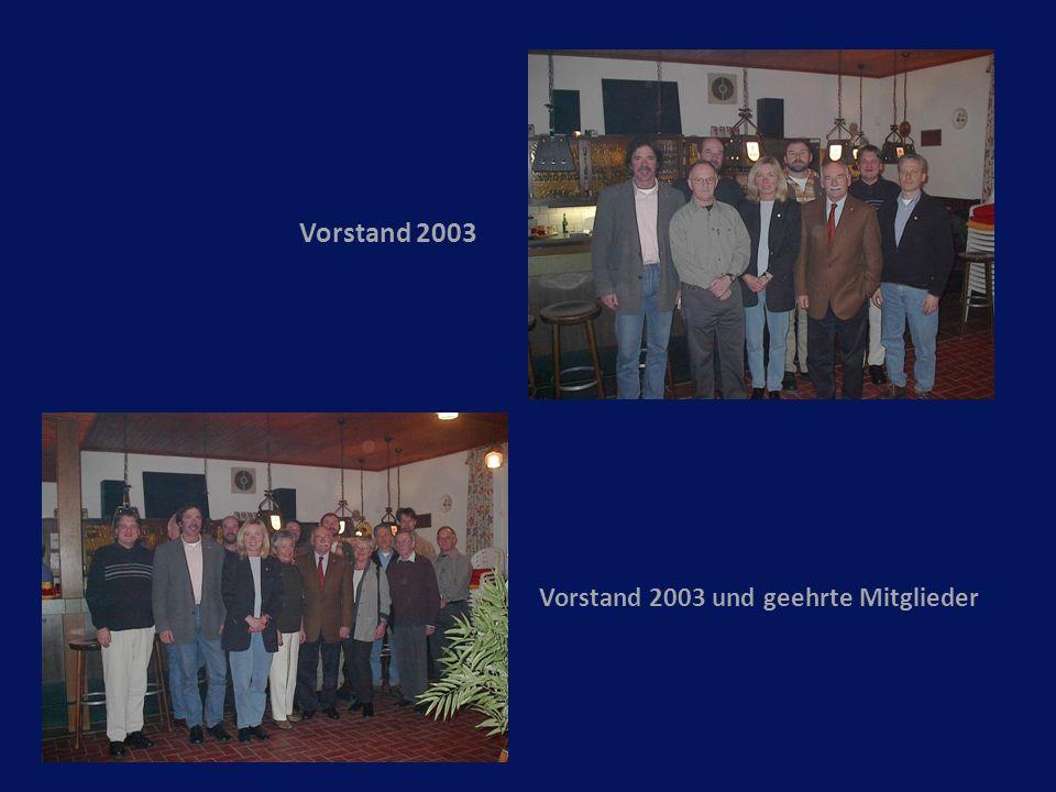 Vorstand 2003 Vorstand 2003 und geehrte Mitglieder