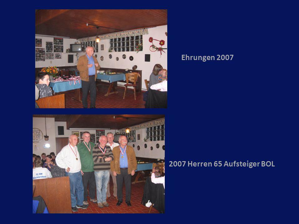 Ehrungen 2007 2007 Herren 65 Aufsteiger BOL