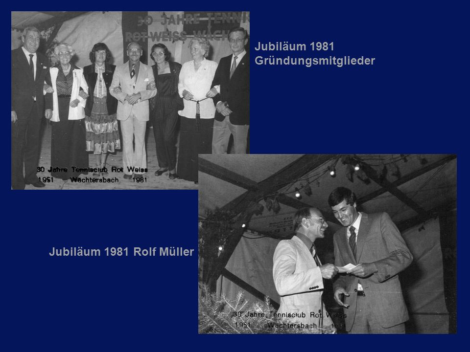 Jubiläum 1981 Gründungsmitglieder