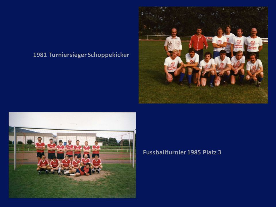 1981 Turniersieger Schoppekicker