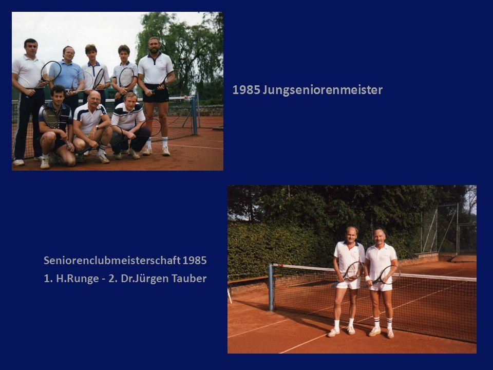 1985 Jungseniorenmeister Seniorenclubmeisterschaft 1985