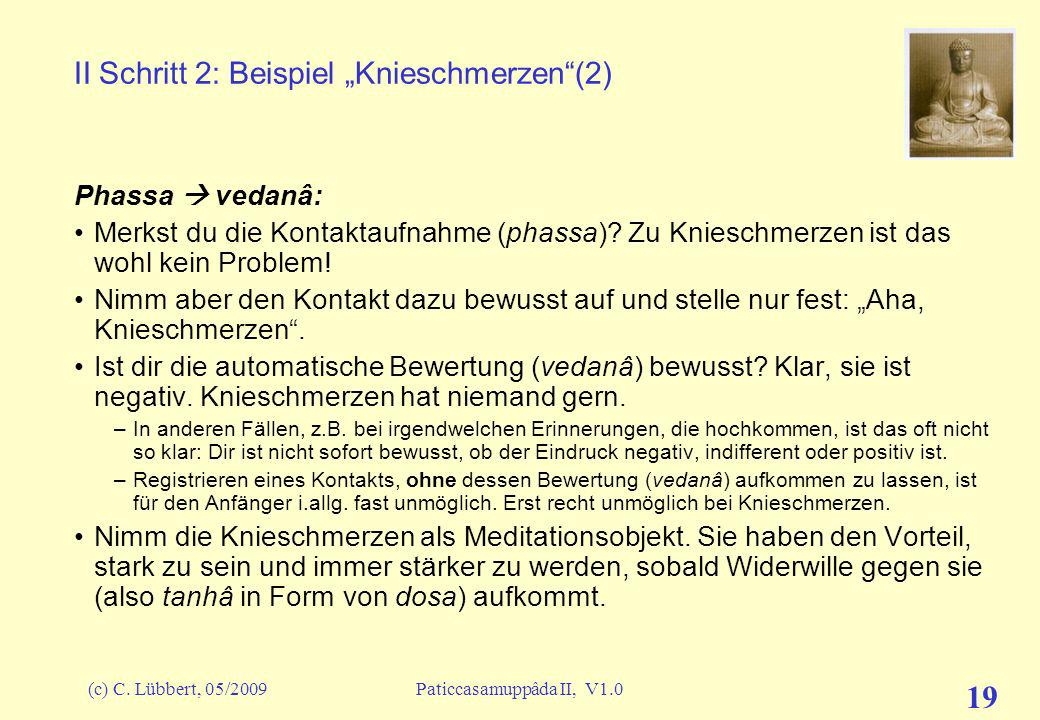 """II Schritt 2: Beispiel """"Knieschmerzen (2)"""