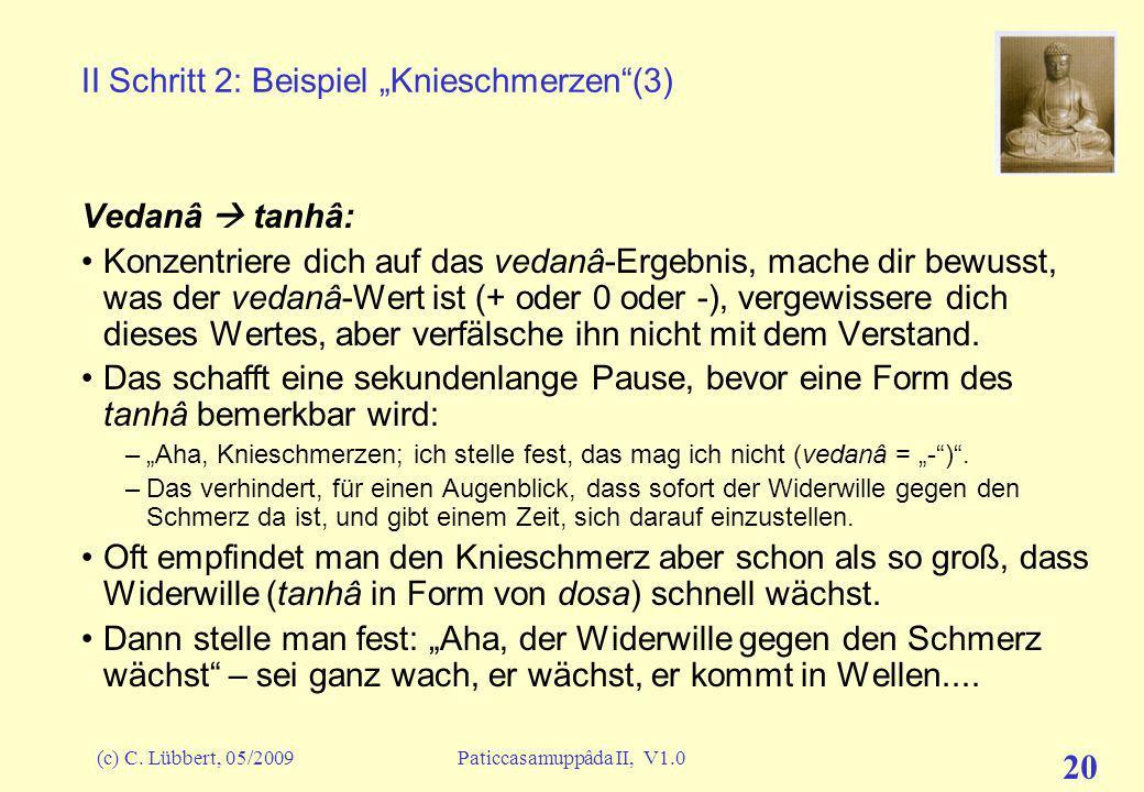 """II Schritt 2: Beispiel """"Knieschmerzen (3)"""